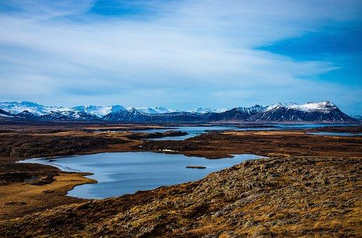 Stykkishólmur, Iceland, Helgafell, Lake, Mountains