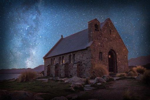 New Zealand, Lake Tekapo, Church Of The Good Shepard