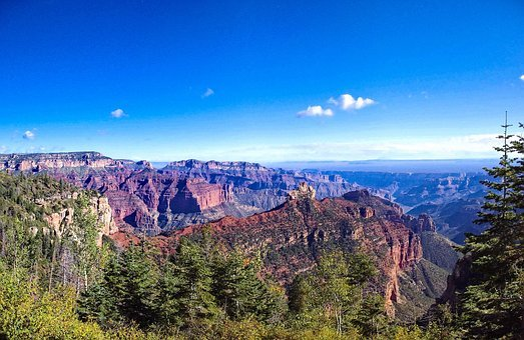North Rim Canyon View, Grand, Canyon, National, Park