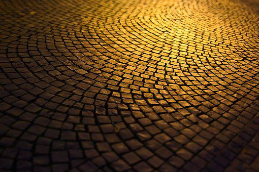 Road, Patch, Ground, Cobblestones, City, Pattern