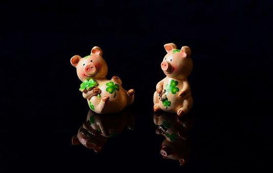 Lucky Pig, Luck, Lucky Charm, Cute, Piglet
