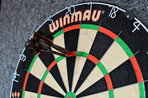 Darts, Dart Board, Arrows, Target, Accuracy, Precision