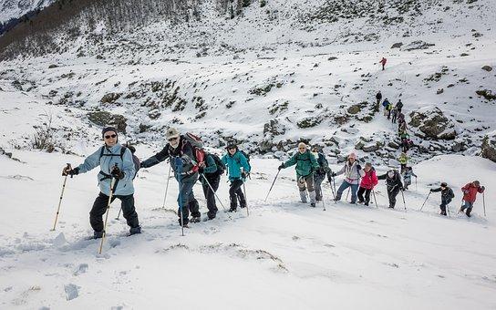 Bouleste, Pyrénées, Mountain, Hiking, Group