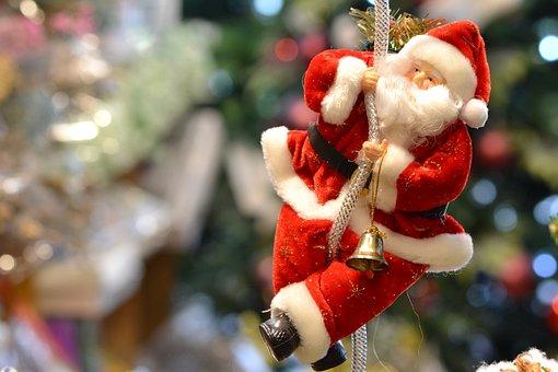 Santa, New Year, Christmas, December, Celebration, Red