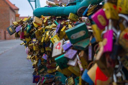 Lock, Love, Padlock, Heart, Key, Romantic, Metal