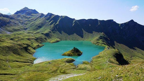 Schrecksee, Mountain Hike, Alpine Panorama, Nature