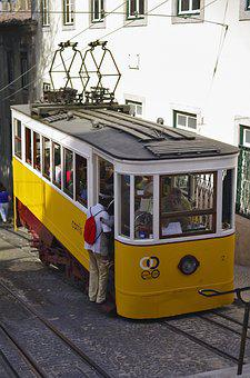Transport, Lisbon, The Funicular, Portugal, Electric