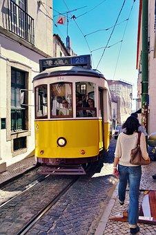 Transport, Lisbon, Alfama, Tram, Portugal, Travel, City