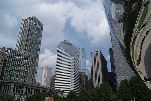 Chicago, Bean, City, Architecture, Usa, Reflection