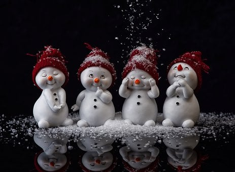 Snowman, Figure, Cute, Winter, Wintry, Snow, Decoration