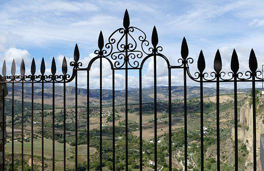 Fence, Fencing, Point, Arrowhead, Wrought Iron