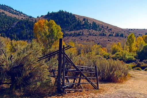 Bannack Fence, Bannack, Montana, Historic, Mining