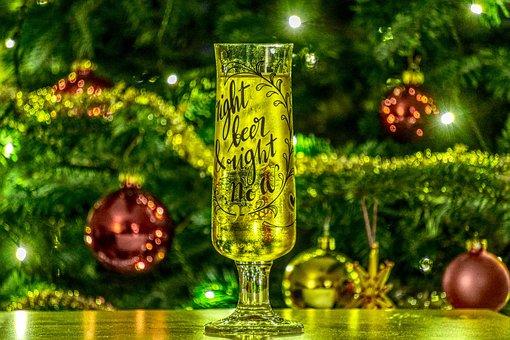 Beer Glass, Beer, Drink, Christmas, Christmas Tree