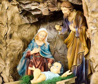 Birth Jesus, Manger, The Holy Family, Catholic
