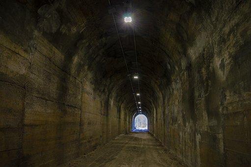 Tunnel, Dark, Darkness, Underground, Flashlight