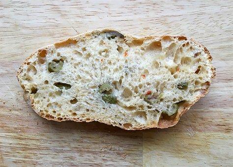 Bread, Bread Roll, Ciabatta Roll, Crumbs, Crust, Dough
