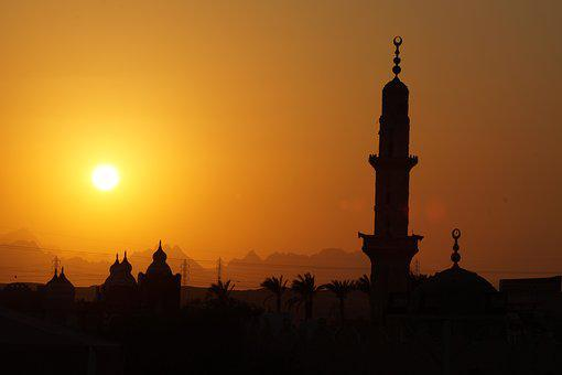 Sunset, Egypt, Landscape, Thousand And One Nights