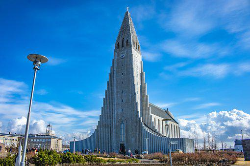 Iceland, Reykjavik, Hallgrímskirkja, Hallgrims-church