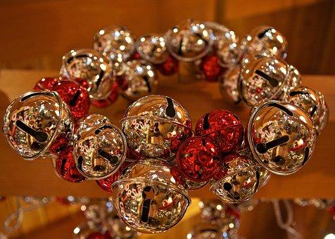 Jungle, Bells, Christmas, Celebration, Red, Holiday
