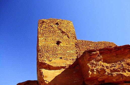 Wukoki Puebloan Ruin, Ruin, Indian, Southwest, Ancient