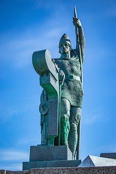 Iceland, Reykjavik, Ingólfur Arnarson, Ingolfur