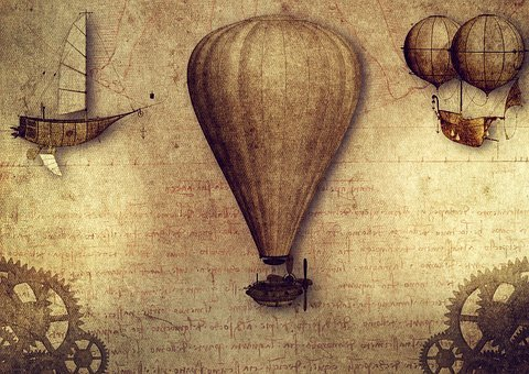 Vintage, Aviation, Inventions, Leonardo Da Vinci, Human