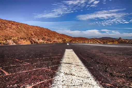 Road, Endless, Landscape, Nature, Asphalt, Away, Just