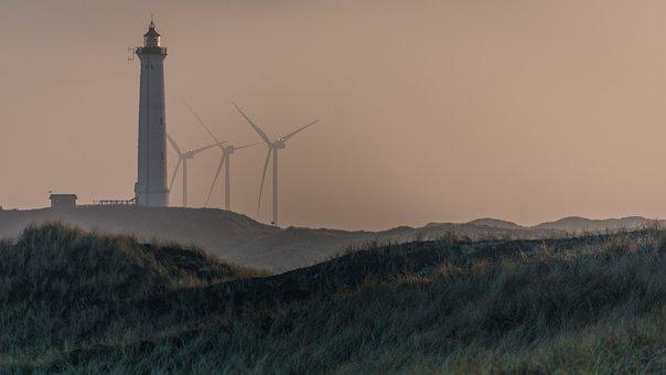 Abendstimmung, North Sea, Denmark, Lighthouse