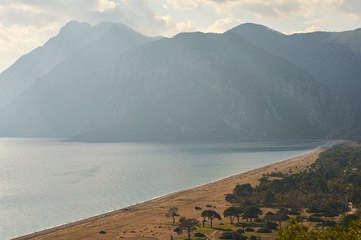 Beach, Mountain, Marine, Landscape, Adrasan, Cirali