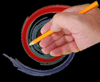 Color, Pencil, Draw, Design, Paint, Teach, Fingers
