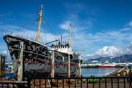 Iceland, Reykjavik, Port, Web, Promenade, Ship, Boat