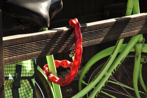 Bicycle, Lock, Theft, Protection, Security, Necklace