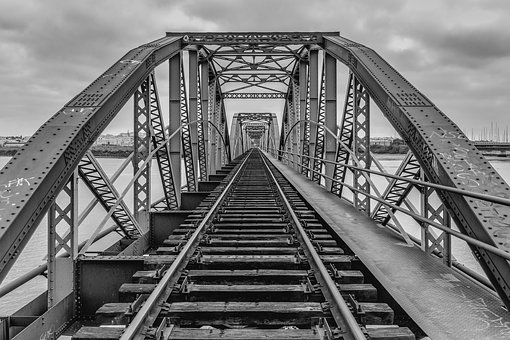 Bridge, Railroad, Railway, Architecture, Tracks, Rails