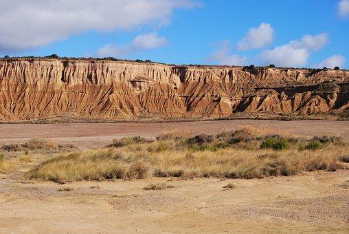 Bardenas, Real, Spain, Landscape Pamplona, Dry, Arid