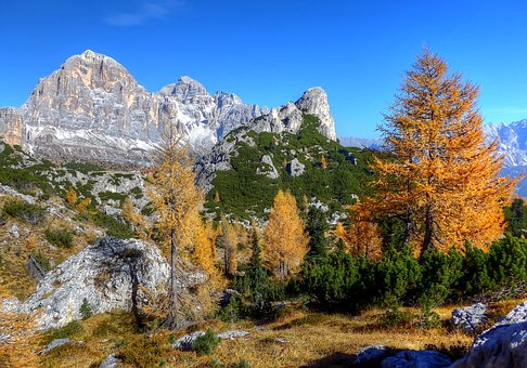Tofane, Dolomites, Nature, Mountains, Rock, Panorama