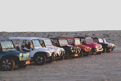 Race, Desert, Landscape, Sand, Vehicle, Car, Dunes