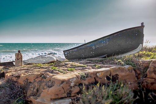 Boat, Shore, Beach, Coast, Fishing, Ocean, Sea, Water