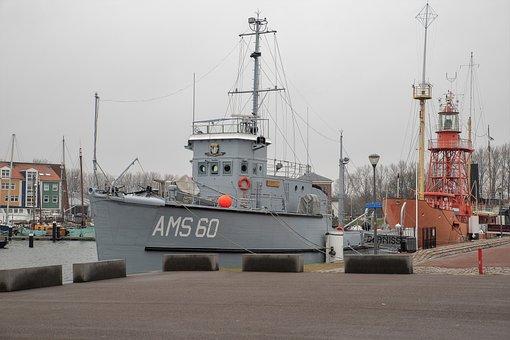Marine, Hellevoetsluis, Ship, Navy Ship, Port