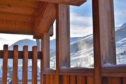 Chalet, Wood, Snow, Landscape, Winter, Nature