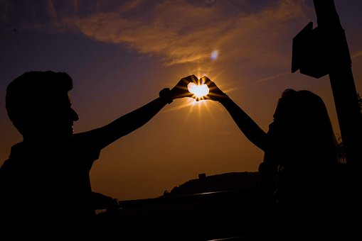 Love, Heart, Star, Silhouette, Evening, Love Forever