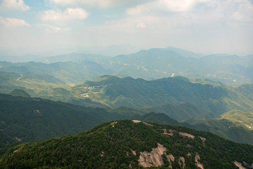 Mountain, Tianzhu Mountain, Cloud, Day, The Scenery