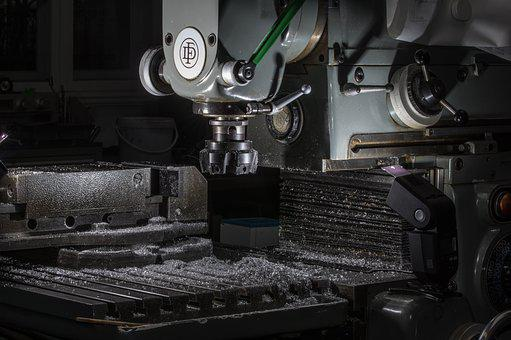 Workshop, Milling Machine, Milling, Metal, Tool, Chips