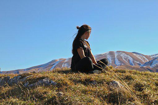 Girl, Camping, Mountain, Woman, Summer, Travel