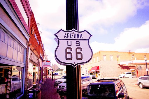 Route 66, Arizona, Usa, America, Road, Vintage, Travel