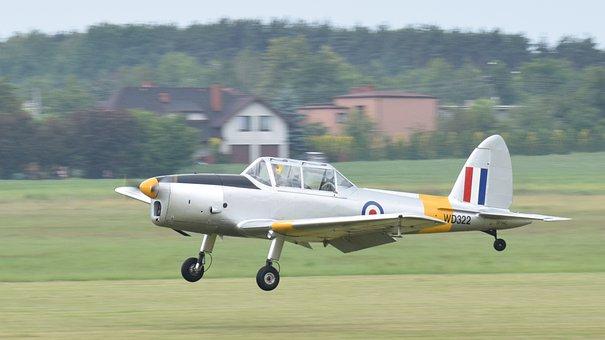 The Plane, Landing, Air Show, Airport, Rybnik