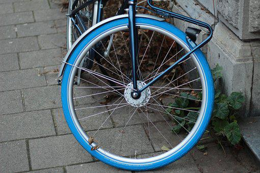 Bike, Tire, Blue, Wheel, Transport, Cycling, Pedal