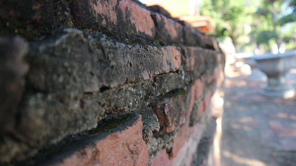 Brick, Temple, Thailand, Buddha, Buddhism, Thai