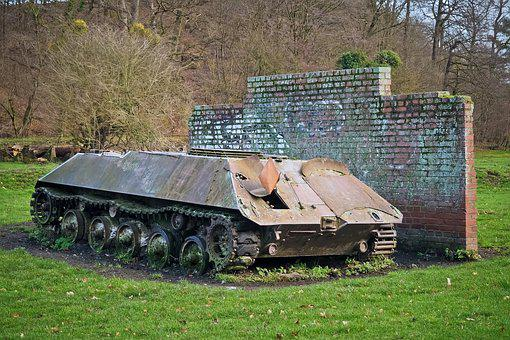 Lost Places, Panzer, Wreck, Metal, Broken, Military