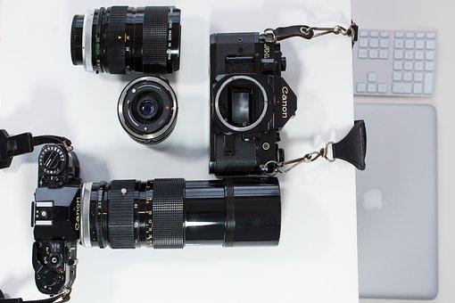 Analog, Digital, Srl Camera, Canon, Retro, Lens, Film