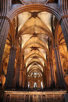 Cathedral, Interior, Gothic, Architecture